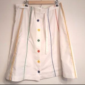 Vintage 80s Button Rainbow Dress